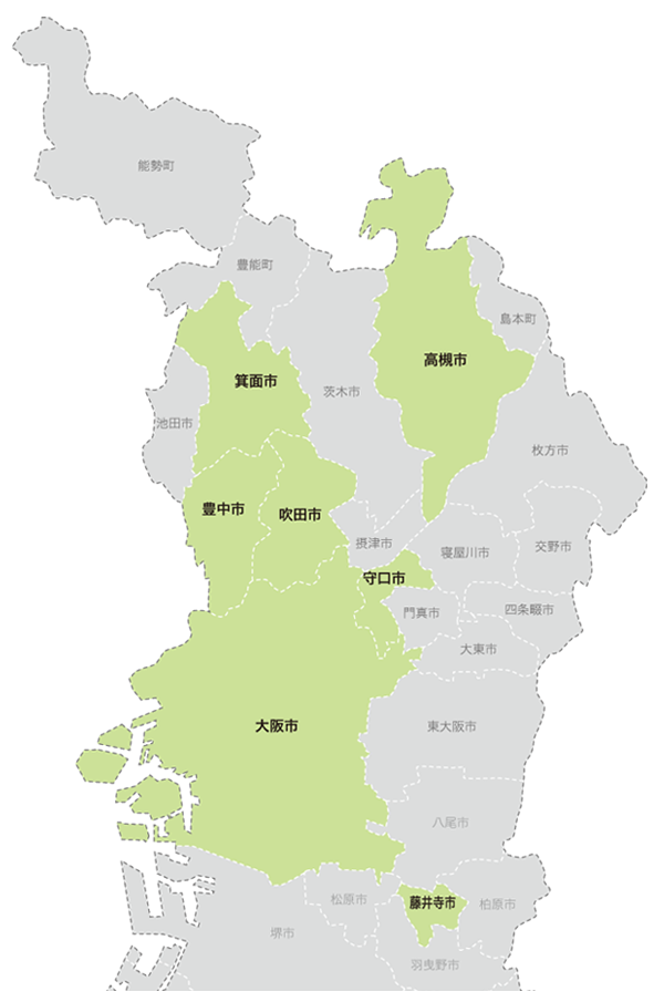 神明会が展開している施設の地域別マップ