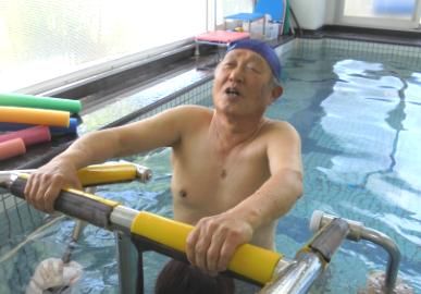 13:00~ 男性利用者様の入浴・プールの開始のイメージ